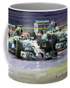 2014 F1 Mercedes Amg Petronas  Lewis Hamilton Vs Nico Rosberg Coffee Mug