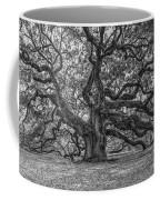 Angel Oak Tree In Black And White Coffee Mug