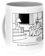 Just Sitting Here Waiting For Facebook To Go Away Coffee Mug by Bruce Eric Kaplan