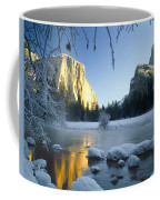 2m6538-yosemite Valley In Winter Coffee Mug