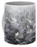 Flock Of Common Crane  Coffee Mug