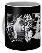 2d Elements In Black And White Coffee Mug
