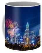 4th Of July Firework Over Charlotte Skyline Coffee Mug by Alex Grichenko