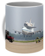 747 Carrying Space Shuttle Coffee Mug