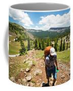 A Backpacker Hiking Coffee Mug