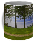 A Bench And Path On The Shore Of Loch Ness In Scotland Coffee Mug