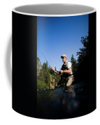 A Fly-fisherman In The Truckee River Coffee Mug