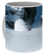 A Male Snowboarder Makes A Series Coffee Mug