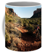 A Middle Age Man Rides His Mountain Coffee Mug