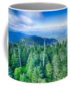 A Wide View Of The Great Smoky Mountains From The Top Of Clingma Coffee Mug