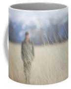 A Young Man Enjoys A Winter Stroll Coffee Mug