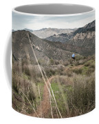 A Young Man Rides His Downhill Mountain Coffee Mug