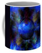 Abstract Blue Globe Coffee Mug