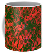 Abstract Checkered Pattern Fractal Flame Coffee Mug by Keith Webber Jr