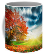 Autumn Fall Landscape In Park Coffee Mug