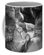 Avalanche Gorge Glacier National Park  Bw  Coffee Mug