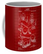 Billiard Bridge Patent 1910 - Red Coffee Mug