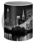 Black And White Cleveland Iconic Scene Coffee Mug