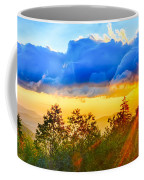 Blue Ridge Parkway Late Summer Appalachian Mountains Sunset West Coffee Mug