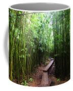 Boardwalk Passing Through Bamboo Trees Coffee Mug