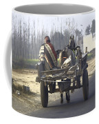 Bundled Up For The Cold In A Foggy Day In Rural India Coffee Mug