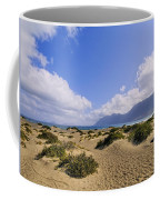 Caleta De Famara Beach On Lanzarote Coffee Mug