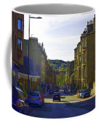 Car In A Queue Waiting For A Signal In Edinburgh Coffee Mug