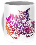 3 Cats Purple Coffee Mug