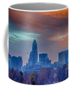 Charlotte The Queen City Skyline At Sunrise Coffee Mug