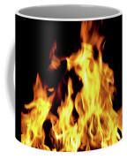 Close-up Of Fire Flames Coffee Mug
