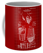 Cocktail Mixer And Strainer Patent 1902 - Red Coffee Mug