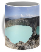 Colourful Crater Lakes Of Kelimutu Coffee Mug by Richard Roscoe