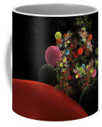 Computer Generated Spheres Abstract Fractal Flame Coffee Mug