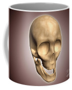 Conceptual Image Of Human Skull Coffee Mug by Stocktrek Images