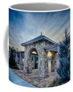 Cultured Stone Terrace Trellis Details Near Park In A City  Coffee Mug