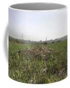 Cut And Dried Grass Along With Growing Grass Coffee Mug