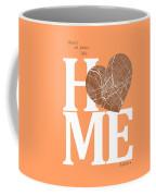 Dallas Street Map Home Heart - Dallas Texas Road Map In A Heart Coffee Mug