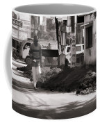 Digging A Ditch At The Side Of A Road In Roorkee Coffee Mug