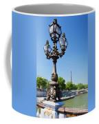 Eiffel Tower And Bridge On Seine River In Paris Coffee Mug