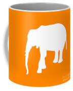 Elephant In Orange And White Coffee Mug