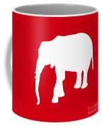 Elephant In Red And White Coffee Mug