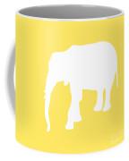 Elephant In Yellow And White Coffee Mug