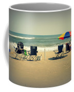 3 Empty Beach Chairs Coffee Mug