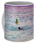 Enjoying The Water In The Coral Reef Lagoon Coffee Mug