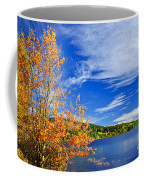 Fall Forest And Lake Coffee Mug by Elena Elisseeva