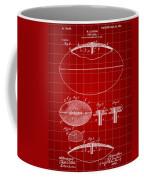 Football Patent 1902 - Red Coffee Mug