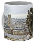 Gargoyle Overlooking Paris Coffee Mug