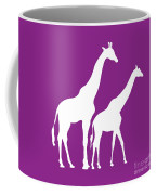 Giraffe In Purple And White Coffee Mug