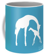 Giraffe In White And Turquoise Coffee Mug