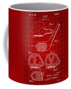 Golf Club Patent 1926 - Red Coffee Mug